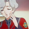 mikogalatea: Matsuka from Toward the Terra, touching a hand to his bruised cheek. ([Terra] Matsuka; hurt)