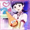 mikogalatea: Shiina from Narutaru, happily hugging a typically gormless Hoshimaru. ([Narutaru] Shiina and Hoshimaru)