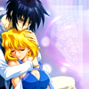 mikogalatea: Shinn from Gundam Seed Destiny, embracing a peaceful-looking Stellar. ([Seed Destiny] Shinn/Stellar)