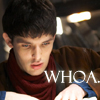 beren_writes: Merlin looking in book - woah! (Merlin - woah)