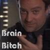 """paraka: Rodney with the caption """"Brain Bitch"""" (SGA-M-Brain Bitch)"""