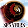 paraka: Hockey puck with the Ottawa Senators' logo on it. (NF-Sens!)
