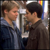 paraka: Justin and Mikey staring at each other longingly (QaF-M/J-Longing Look)