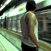 paraka: Colby's back with a subway speeding by in the background (N3-Colby-in Subway)