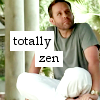 "paraka: Larry meditating with the caption ""Totally Zen"" (N3-L-Totally Zen)"