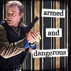 "paraka: Rodney holding a gun with the caption ""armed and dangerous"" (SGA-M-Armed and Dangerous)"
