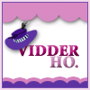 paraka: The caption Vidder ho with a purple had sitting on the V. (V-Vidding Ho)