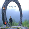 lilyleia78: Jack in an empty stargate, captioned inspire (SG1: Inspire)