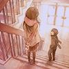 clarine: (stairs.)