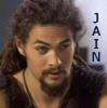"""jain: Ronon Dex's face. Text: """"Jain"""" (jain ronon)"""