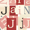 "jain: Overlapping letters from the name ""Jain."" (jain)"