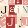 "jain: Overlapping letters from the name ""Jain."" (jain)"