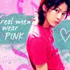 """jain: Kamenashi Kazuya wearing a bright pink T-shirt. Text: """"Real men wear pink."""" (pink)"""