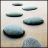 phinnia: three stepping stones across still water (path of stones)