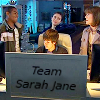 kaffyr: Sarah Jane Smith and her young team at the computer (Team Sarah Jane)
