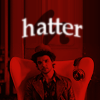 "dapatty: Hatter in read with the text ""Hatter"" (Hatter)"