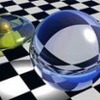 ecreegan: glass ball on checkerboard (Default)