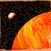 owl: Orange planet with moon. I think of it as Cyteen. (planet)