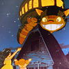 wistfuljane: scene from my neighbor totoro (catbus!)