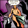 shelf: icon of spoiler holding a syringe threateningly and looking at a naked green arrow (mad scientist)