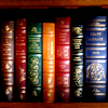 "red_trillium: image of coloured book spines, my ""smart"" icon (Coloured book spines)"