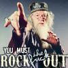 scarimonious: The power of Dumbledore compels! (Dumblerock)