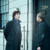 kabal42: John and Sherlock from 'Sherlock' standing outside 221B Baker Street (TV - Sherlock John and Sherlock @ 221B)