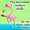 alcesverdes: A flamingo with a yoyo: awesome, yet useless (Fantasia 2000 - Flamingo // Skills)