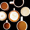 nervesinpatterns: seven coffee cups fulls of coffee (coffee cups)