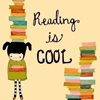 "nervesinpatterns: girl holding a stack of books, text ""reading is cool"" (reading is cool)"