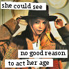 misbegotten: Romana sees no good reason to act her age (DW Act Her Age)