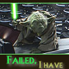 amberleewriter: Yoda can't beat the dark side (Failed)