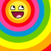 tamarindball: rainbow happy face (food + me = ♥)