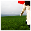 elizabeth: woman with a red umbrella walking into a storm (Default)