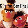 mab_browne: Jim and Blair are just like Bert and Ernie - really.  Text reads S is for Sentinel. (S is for Sentinel)