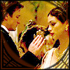 crypticgirl: Inara and Mal from Firefly in a shot from a dancing scene (romance)