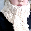 aquaprofunda: A thick woolen scarf wrapped around someone's neck. Their mouth is visible above it. (Scarf)