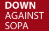 "elainegrey: The usual icon is ""Down against SOPA"" in solidarity with other protests (Protest)"