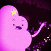 gloss: lumpy space princess declaiming & gesticulating (AT: LSP has something to say)