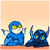 kidcomrade: ted kord and jaime reyes/blue beetles ii and iii, dc comics (blue beetles)