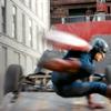 the_oscar_cat: Captain America vaulting over an upturned car. He has very long legs! (Avengers - Cap Legs!)
