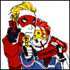 turlough: art of Kobra Kid and Party Poison with rayguns ((mcr art) defend yourself)