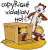 sqbr: calvin and hobbes with a duplicator, Copyright violation: ho! (calvin)