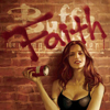 "sqbr: Faith holding a spray can next to ""Buffy the Vamprie Slayer"" with Faith scrawled over the top (faith)"