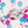kerpingtack: cute drawing of japanese candy: pink blue white (bauble crie)