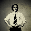 kerpingtack: gillian anderson menswear black and white (none who say)