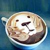 kerpingtack: latte art dog (oh! it's me!)