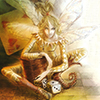 pameladlloyd: Fairy with dice, children's book illustration by Christian Martin Weiss (Gambling Fairy)