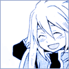 arabesque: Tales of Symphonia: Genis laughing sheepishly with his hand behind his head (About that! Funny story...)
