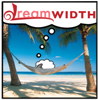 frangipani: a sheep on a hammock strung between two coconut trees, on a beach (and the livin' is easy)